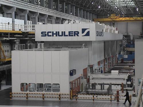 一汽-大众50线81000KN德国舒勒冲压生产线安装